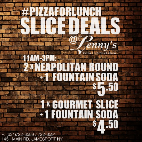 Friday Pizza For Lunch Special